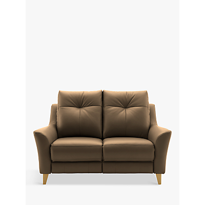 G Plan Hirst Small 2 Seater Leather Sofa
