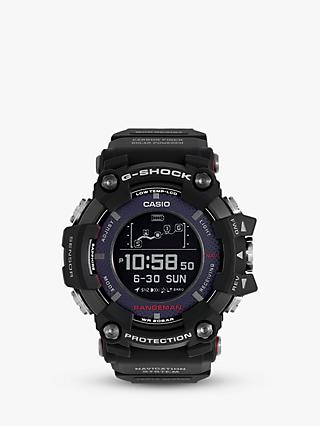 Casio GPR-B1000-1ER Men's G-Shock Rangeman Solar GPS Resin Strap Watch, Black