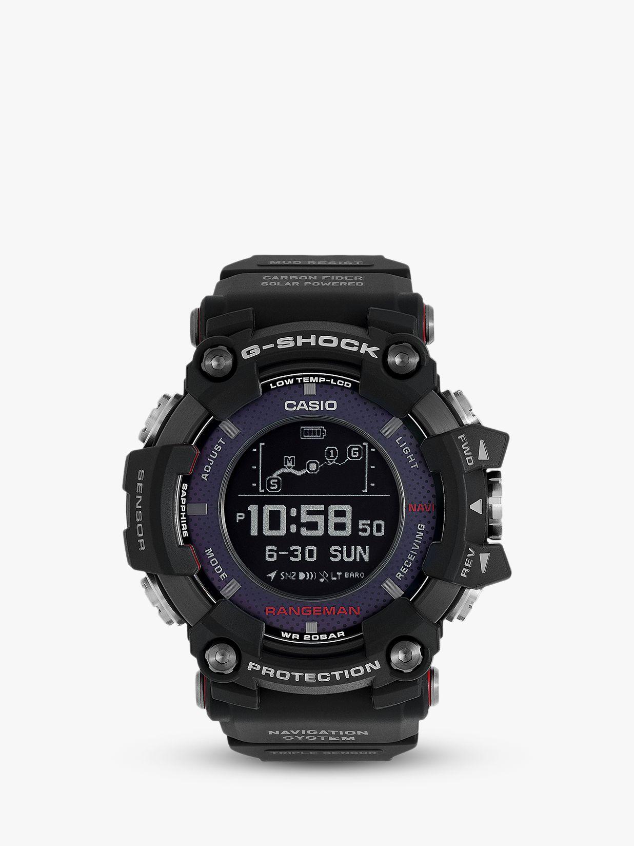 Casio Casio GPR-B1000-1ER Men's G-Shock Rangeman Solar GPS Resin Strap Watch, Black
