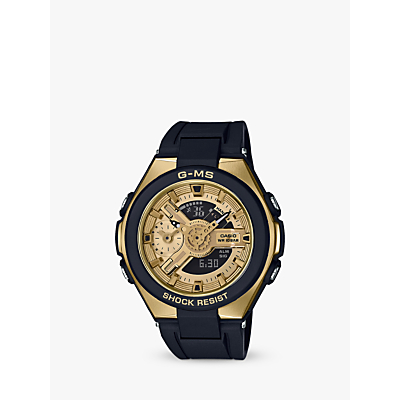 Casio Women's Baby G G-MS Chronograph World Time Resin Strap Watch