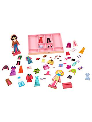 Melissa & Doug Abbey & Emma Magnetic Dress-Up Set