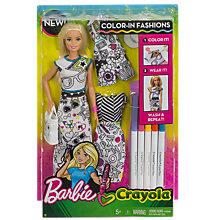 Buy Barbie Colour-In Fashion Doll Online at johnlewis.com