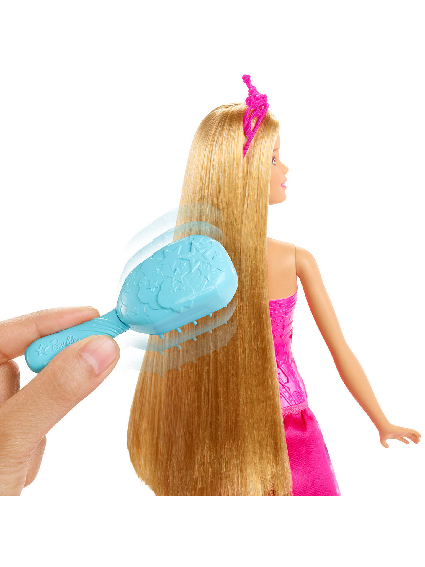 Buy Barbie Dreamtopia Brush 'N' Sparkle Princess Doll Online at johnlewis.com