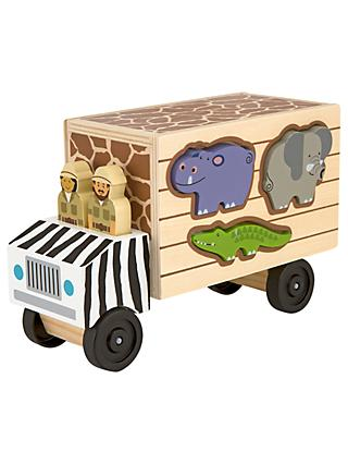 Melissa & Doug Safari Shape Sort Truck
