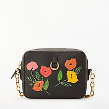Buy Lauren Ralph Lauren Small Leather Camera Cross Body Bag, Black Online at johnlewis.com