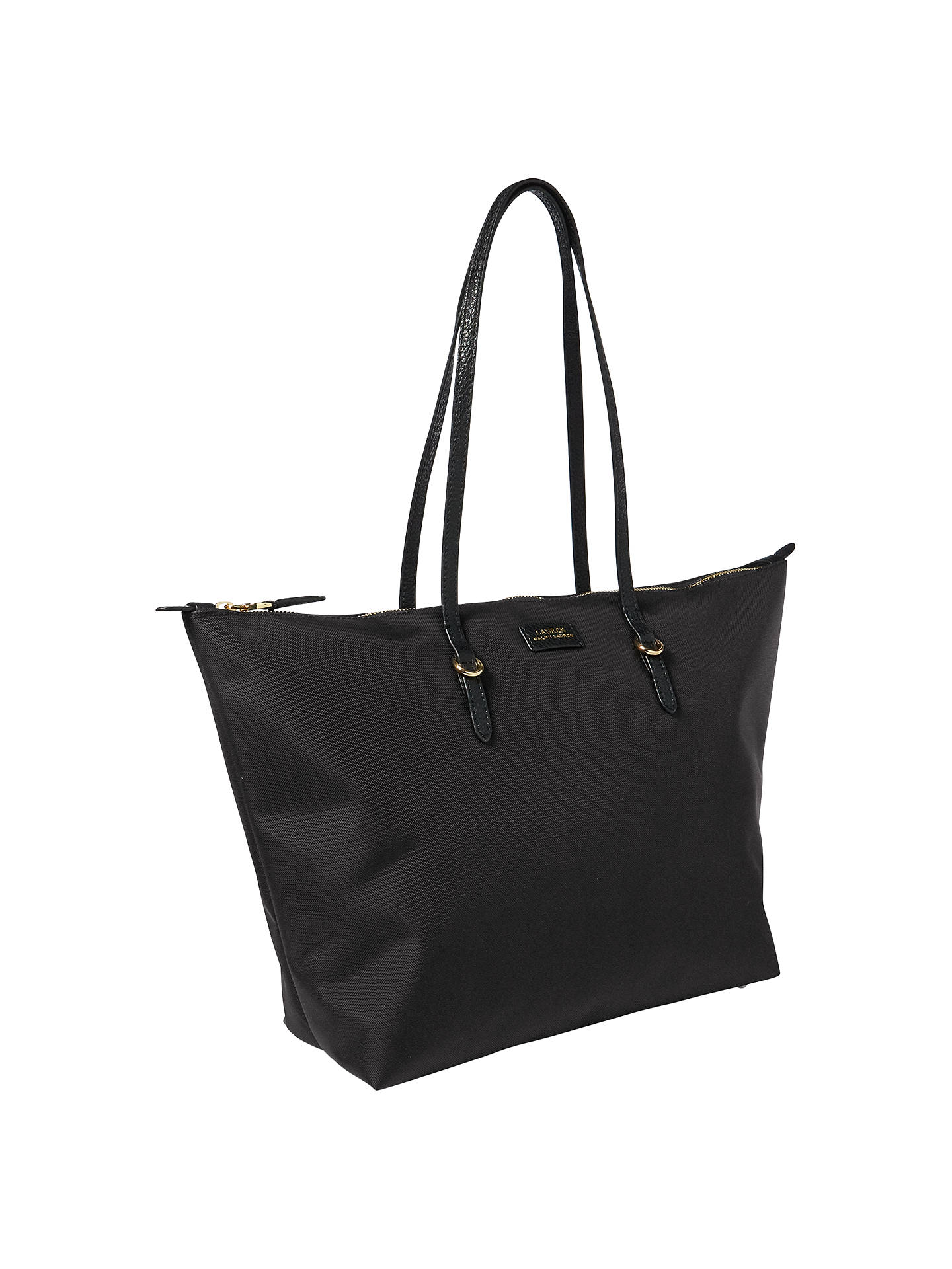 d876b778367f ... clearance buylauren ralph lauren nylon oxford tote bag black online at  johnlewis 96a42 79723