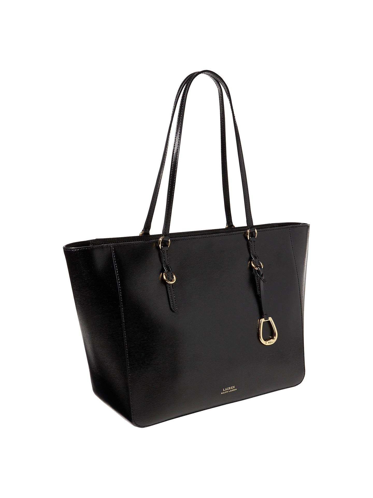 Lauren Ralph Saffiano Leather Tote Bag Black Online At Johnlewis