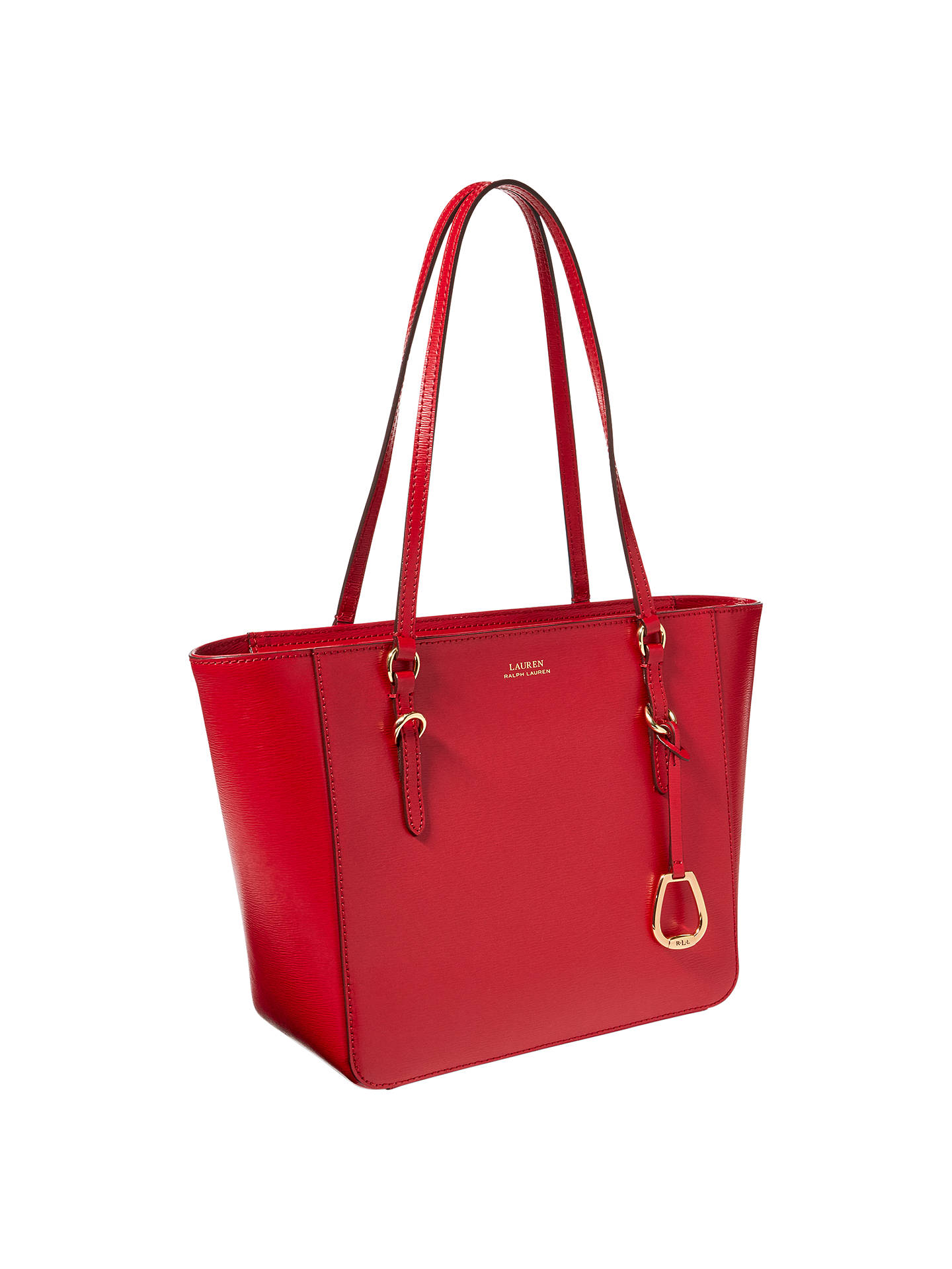171091099a7 BuyLauren Ralph Lauren Saffiano Leather Shopper Tote Bag, Red Online at  johnlewis.com ...
