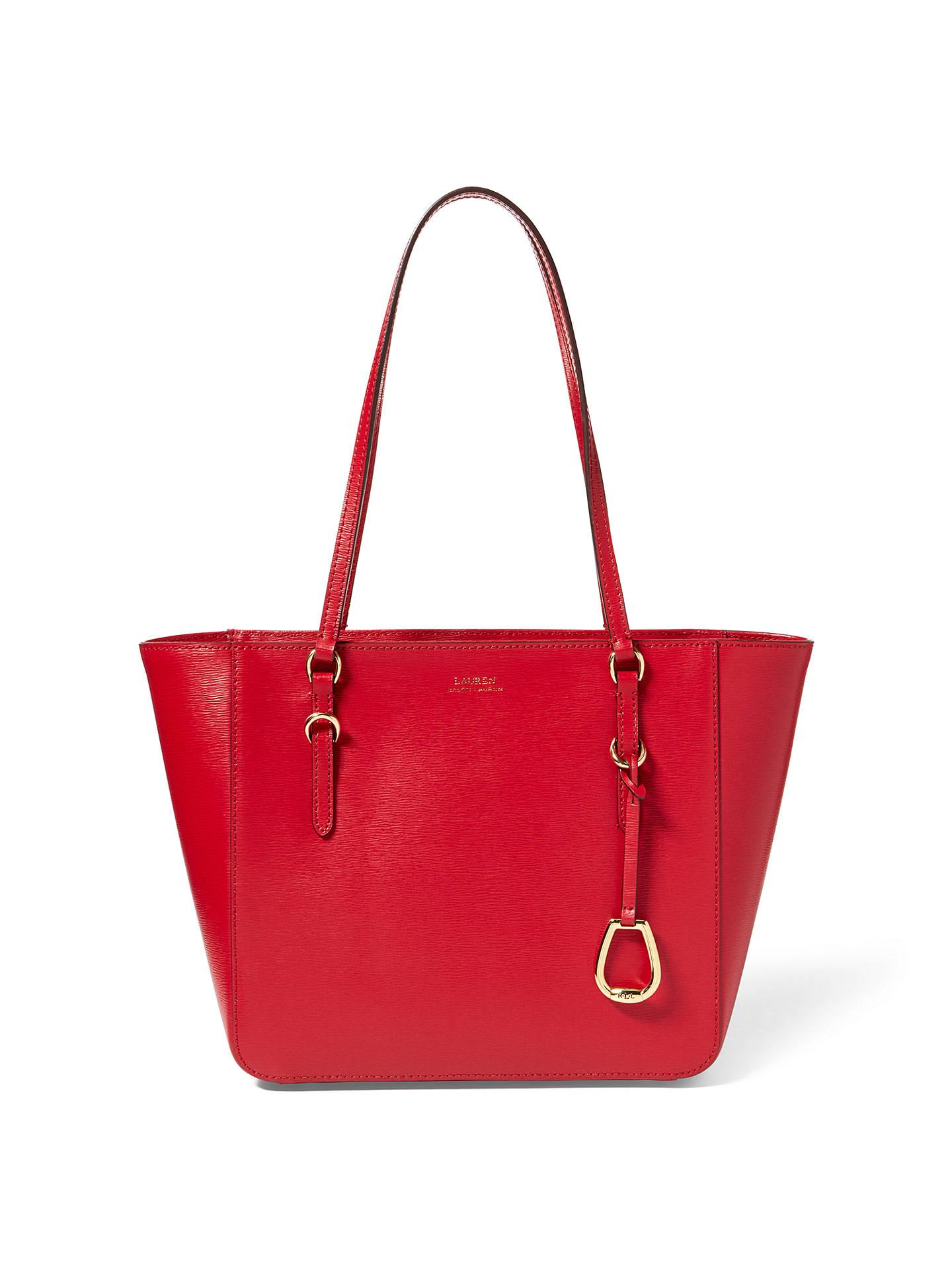 70e96e02ce3 ... BuyLauren Ralph Lauren Saffiano Leather Shopper Tote Bag, Red Online at  johnlewis.com ...