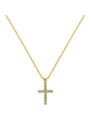 Melissa Odabash Crystal Cross Pendant Necklace