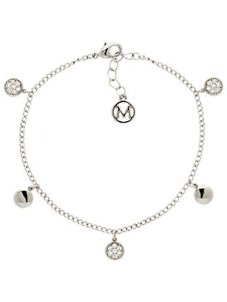 Melissa Odabash Glass Crystal Drop Disc Bracelet
