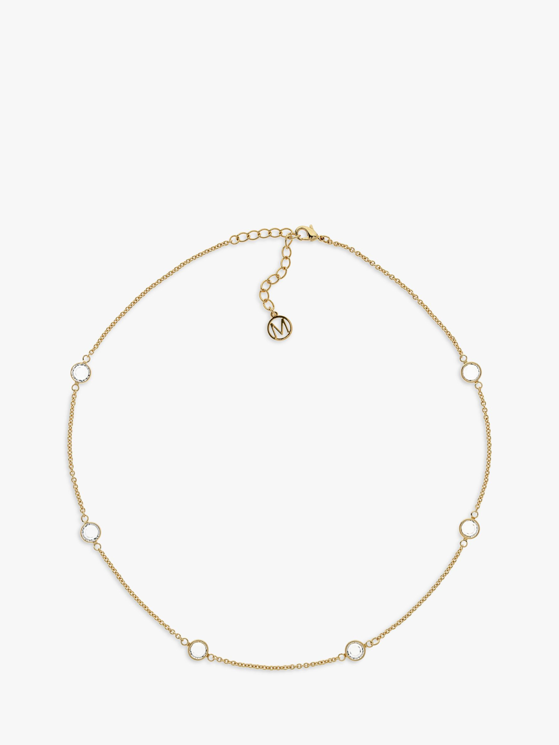 Melissa Odabash Melissa Odabash Glass Crystal Trace Chain Necklace