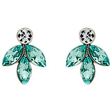 Buy Monet Navette Drop Stud Earrings, Silver/Aqua Online at johnlewis.com