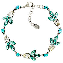 Buy Monet Glass Crystal Teardrop Bracelet, Silver Online at johnlewis.com