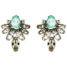 Buy Monet Navette Glass Crystal Clip-On Earrings, Silver Online at johnlewis.com
