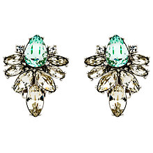 Buy Monet Navette Glass Crystal Stud Earrings, Silver Online at johnlewis.com