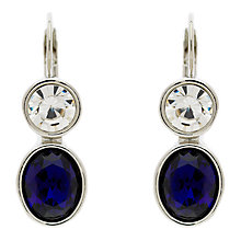 Buy Monet Crystal Leverback Drop Earrings, Silver/Blue Online at johnlewis.com