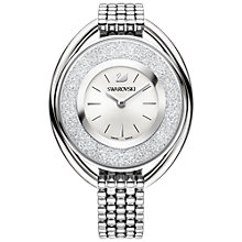 Buy Swarovski 5181008 Women's Crystalline Oval Bracelet Strap Watch, Silver/White Online at johnlewis.com