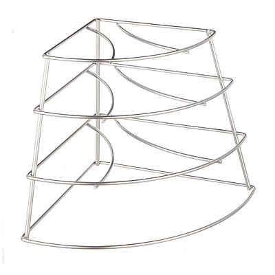 John Lewis & Partners 4 Tier Corner Plate Stacker Rack, Stainless Steel