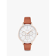 Buy HUGO BOSS Women's Symphony Day Date Leather Strap Watch Online at johnlewis.com