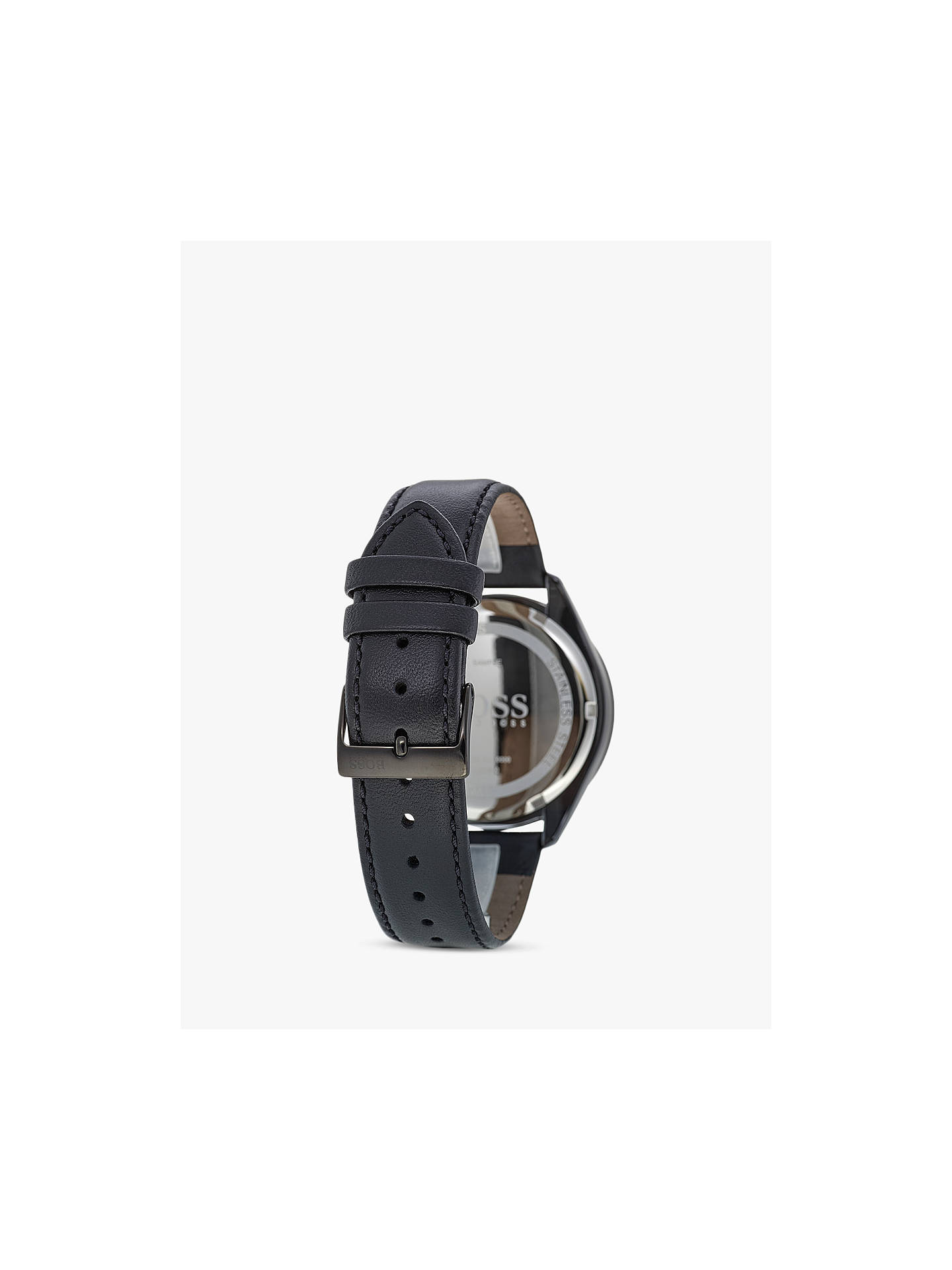 b1aa28c37 Buy HUGO BOSS 1513590 Men's Talent Chronograph Leather Strap Watch, Black  Online at johnlewis.