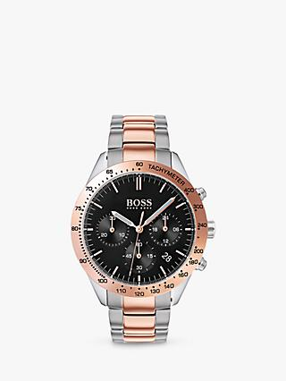 HUGO BOSS 1513584 Men's Talent Chronograph Bracelet Strap Watch, Multi/Black