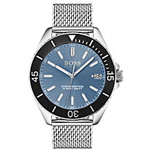 Buy HUGO BOSS 1513561 Men's Ocean Edition Bracelet Strap Watch, Silver Online at johnlewis.com
