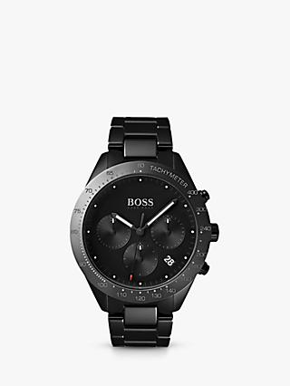 HUGO BOSS 1513581 Men's Talent Chronograph Bracelet Strap Watch, Black