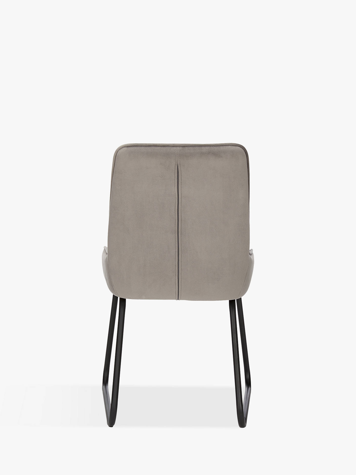 Buy John Lewis & Partners Brooks Velvet Side Dining Chairs, Set of 2, Silver Online at johnlewis.com