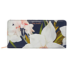 Buy Ted Baker Anniie Chatsworth Bloom Leather Matinee Purse, Navy Online at johnlewis.com