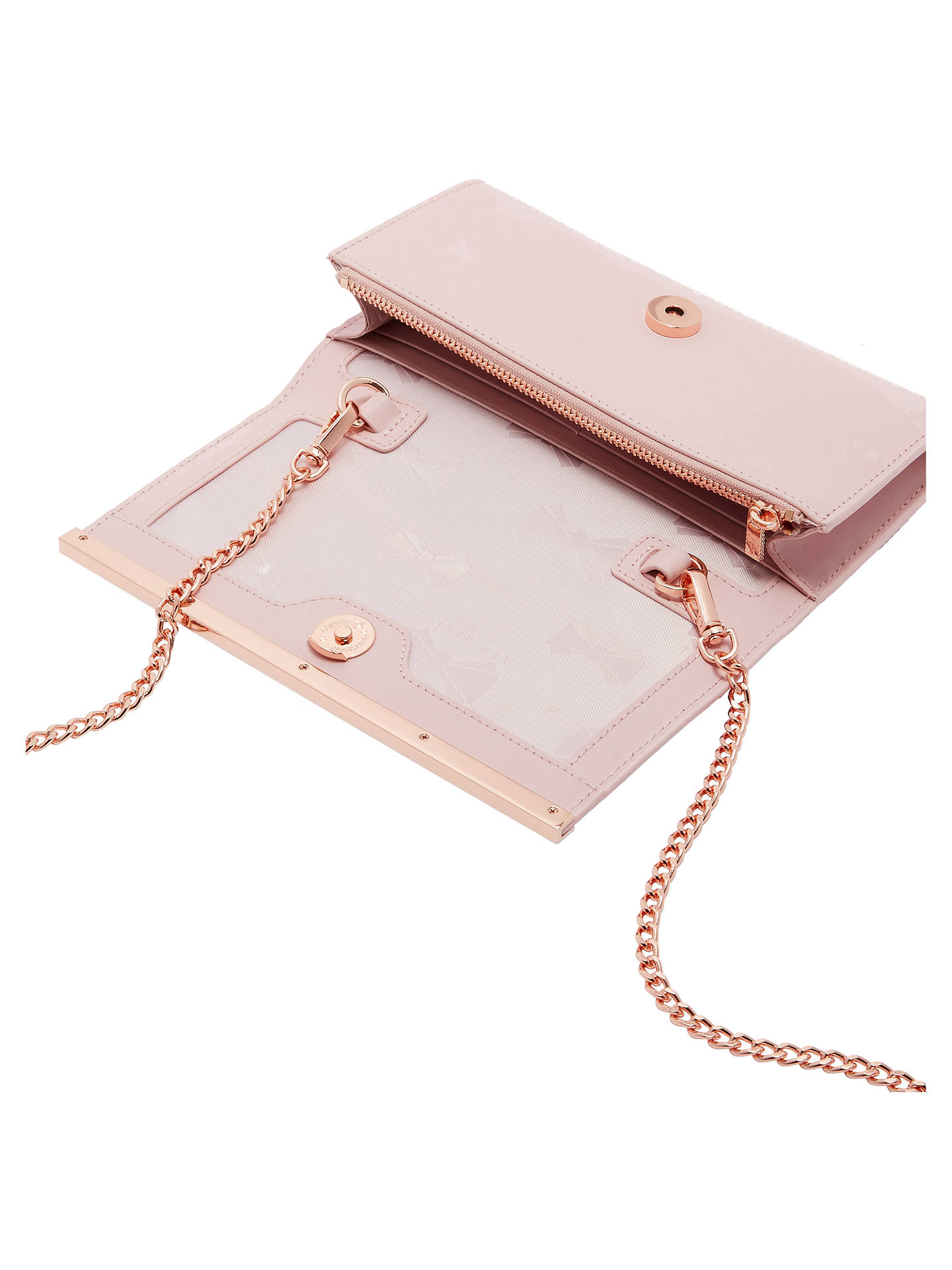 26a3ac6bfb ... Buy Ted Baker Natalie Matinee Chain Purse, Pink Online at johnlewis.com  ...