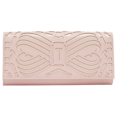 Ted Baker Aaloe Leather Bow Matinee Purse, Light Pink