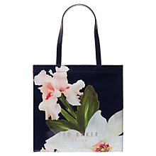 Buy Ted Baker Hermcon Chatsworth Bloom Large Icon Shopper Bag, Navy Online at johnlewis.com