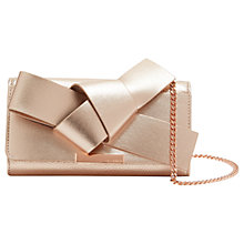 Buy Ted Baker Lyle Giant Knot Bow Leather Evening Bag Online at johnlewis.com