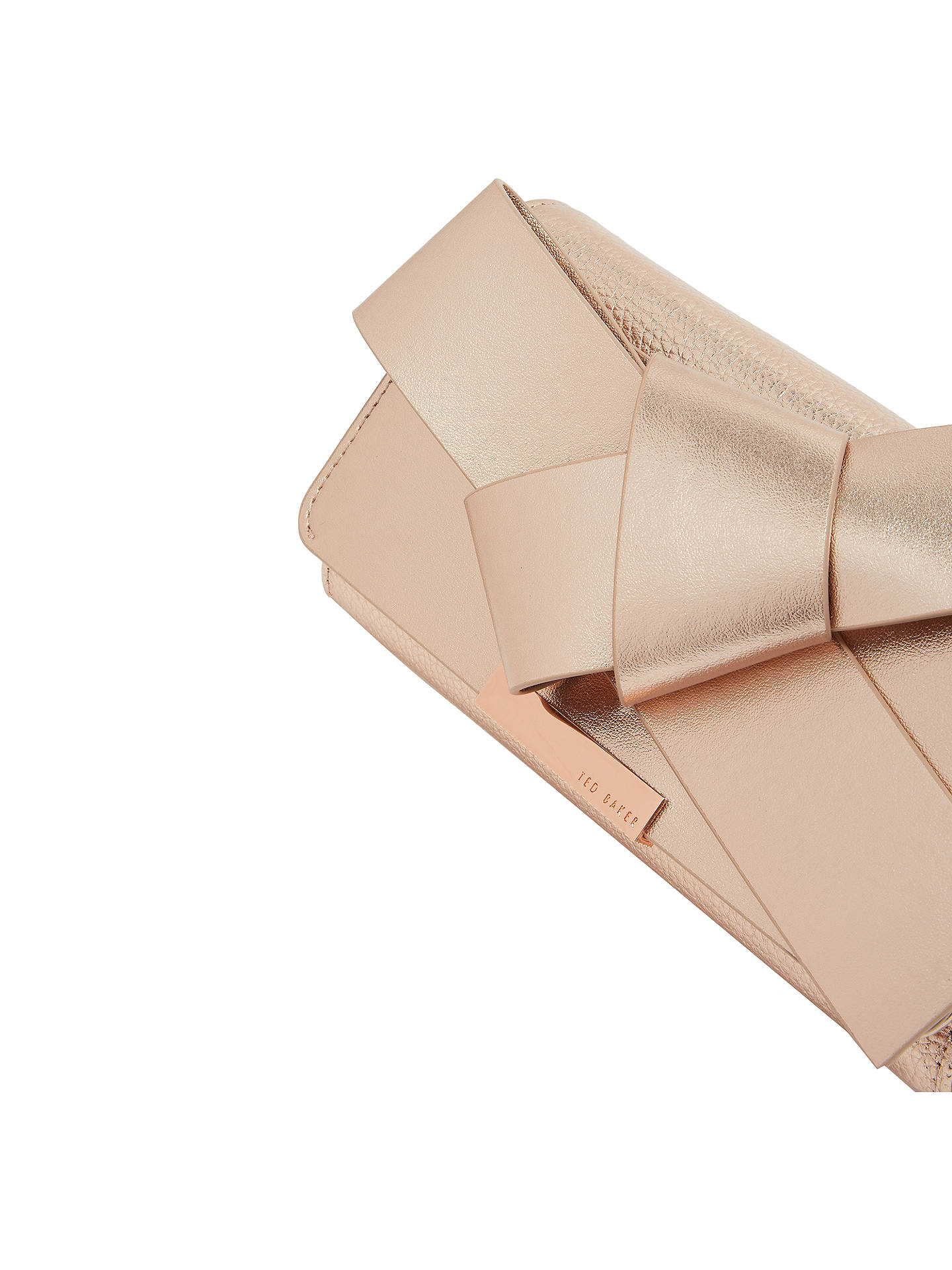 fb389b37d0c246 Ted Baker Lyle Giant Knot Bow Leather Evening Bag at John Lewis ...