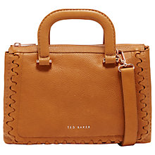 Buy Ted Baker Keziaah Leather Tote Bag, Tan Online at johnlewis.com