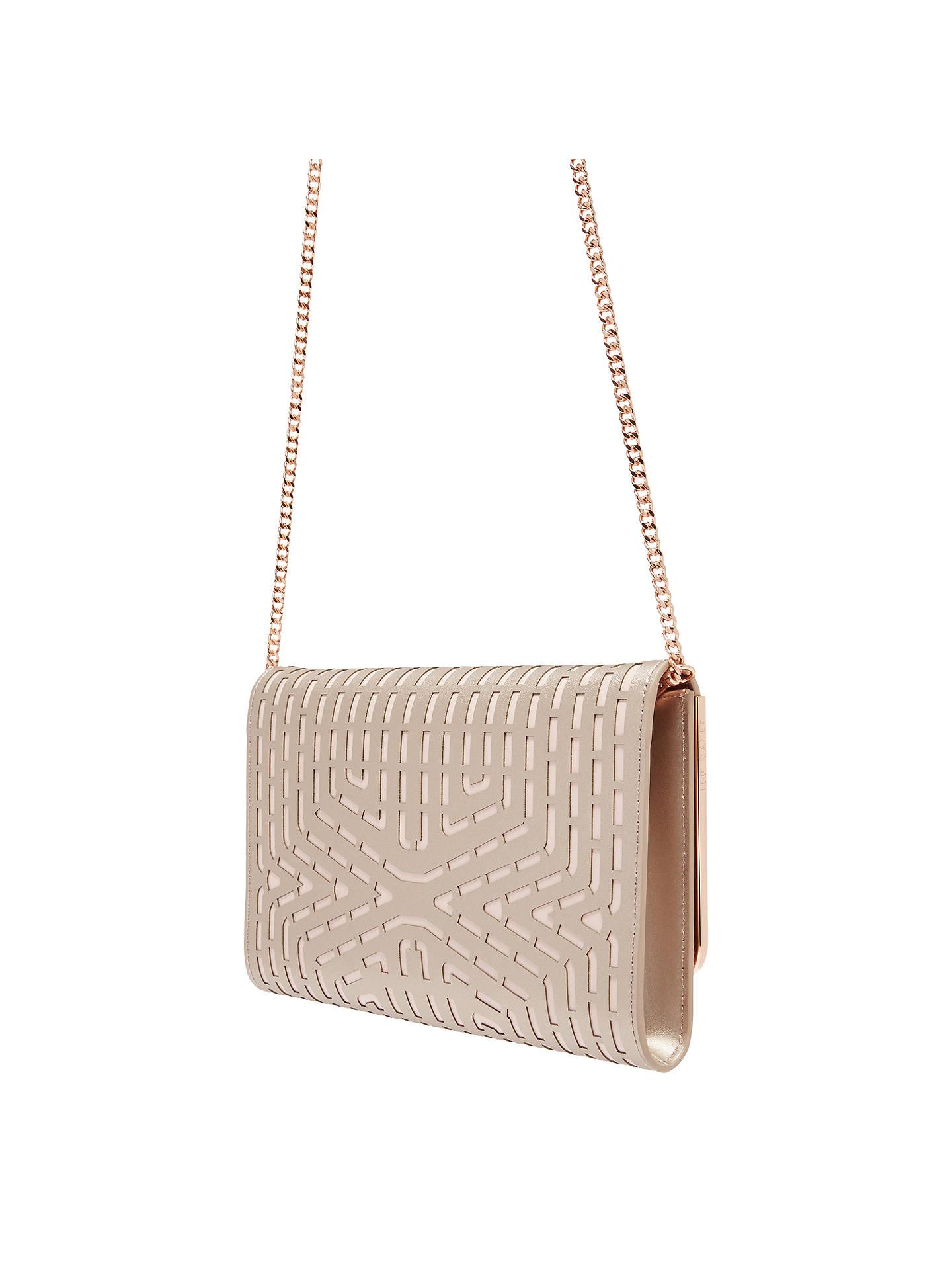 4438ee7b614 ... Buy Ted Baker Bree Bow Leather Clutch Bag, Rose Gold Online at  johnlewis.com ...