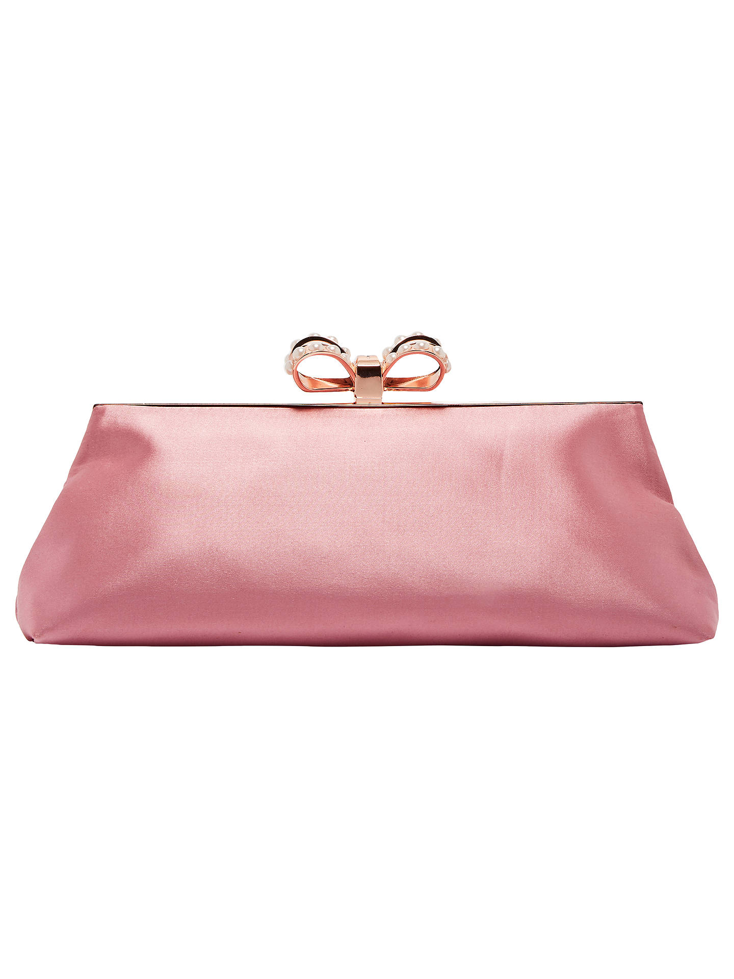 b0c6cef163 Buy Ted Baker Georgaa Evening Bag, Dusty Pink Online at johnlewis.com ...