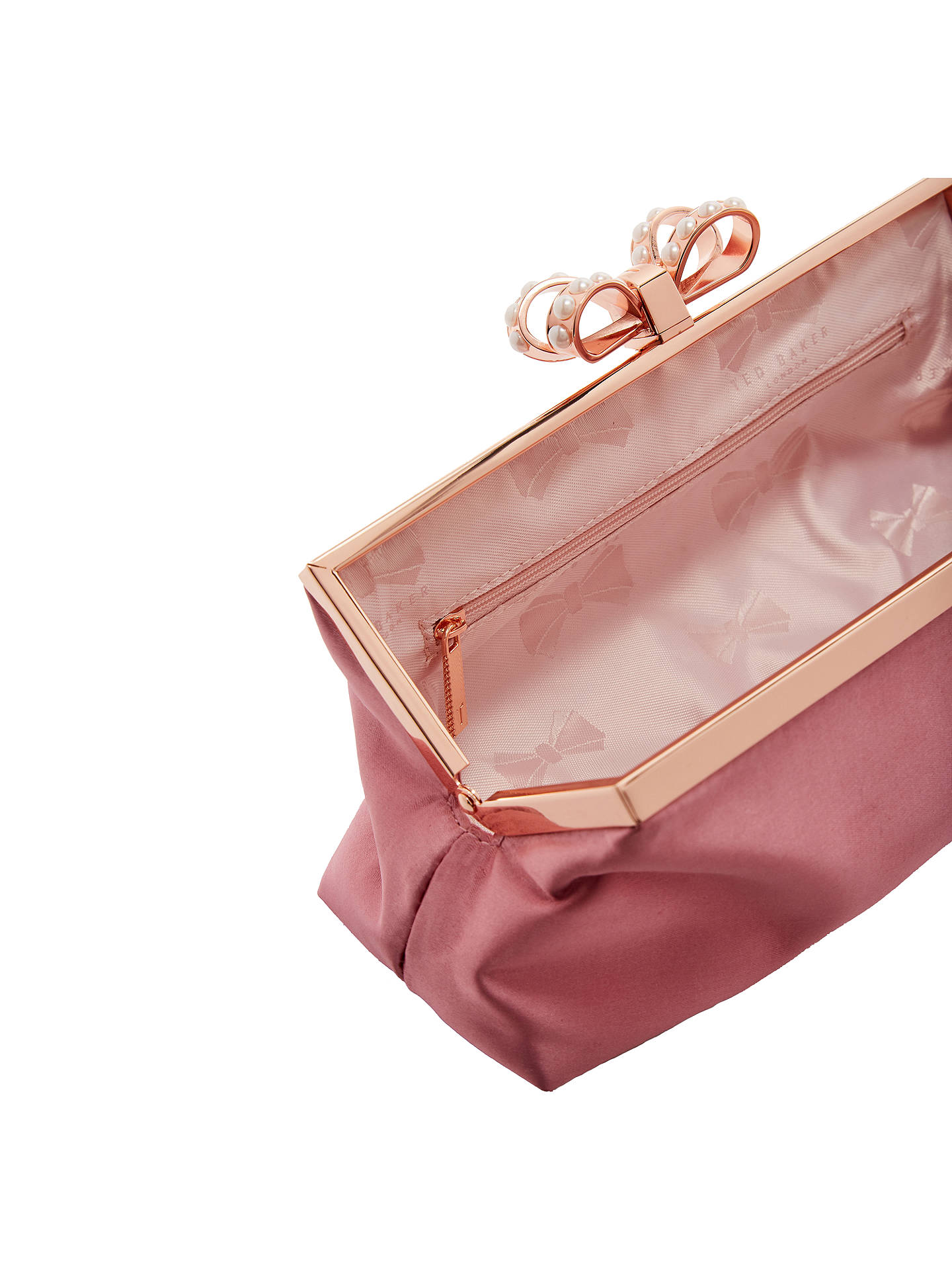 ec6d9c635c ... Buy Ted Baker Georgaa Evening Bag, Dusty Pink Online at johnlewis.com  ...