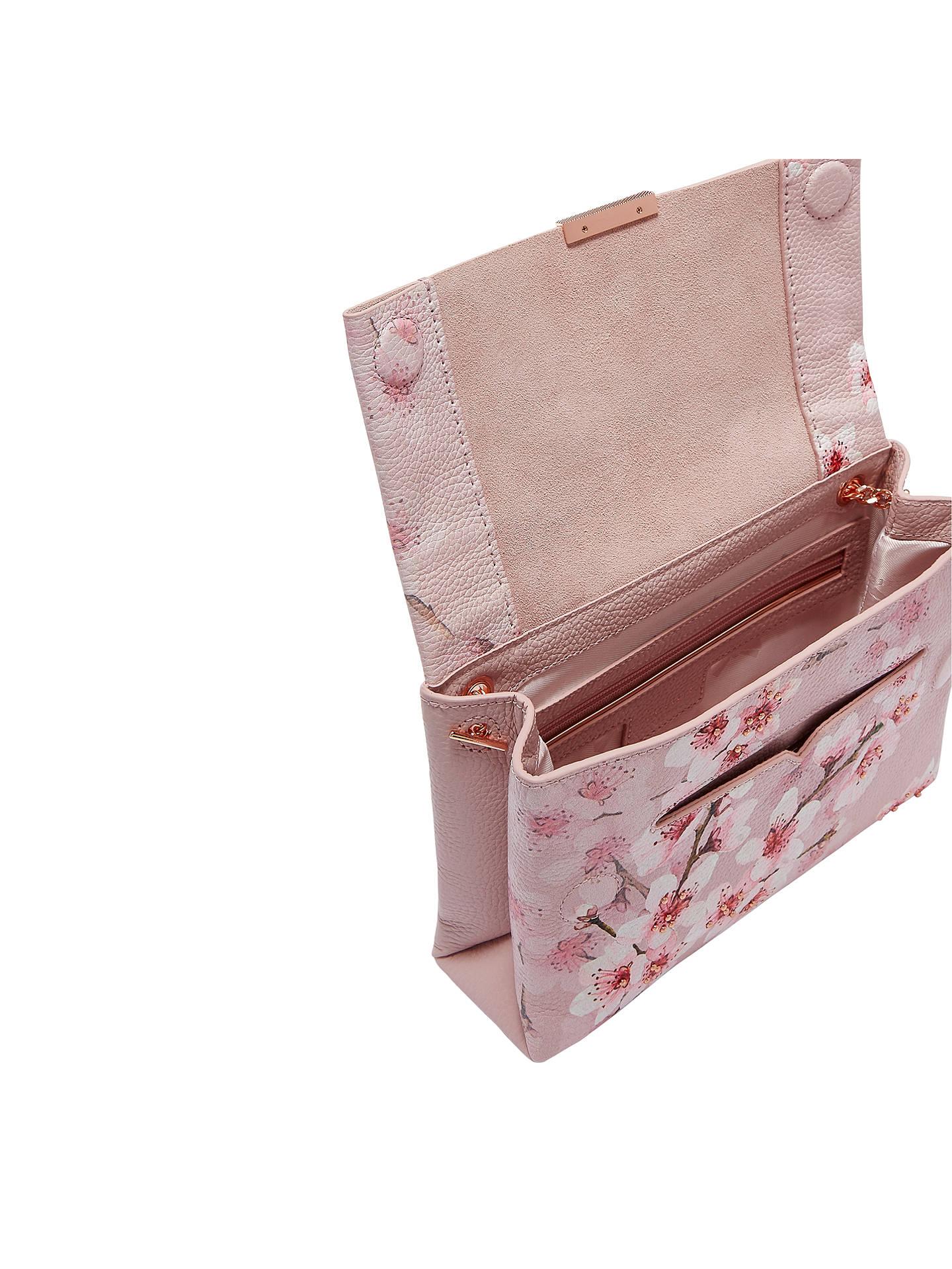 35e7130b629 ... Buy Ted Baker Jayy Soft Blossom Leather Cross Body Bag, Light Pink  Online at johnlewis ...