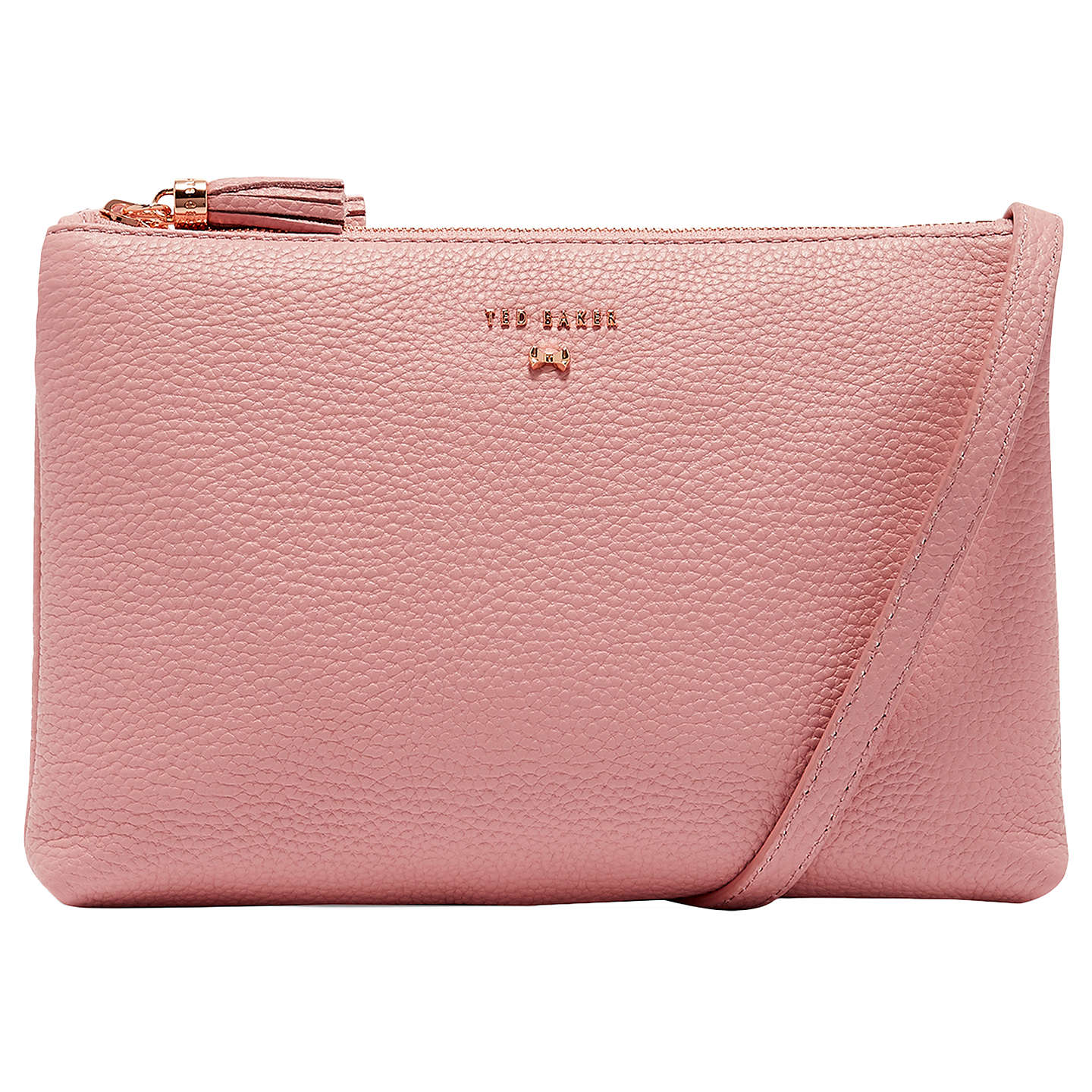 Ruby Wedding Gifts John Lewis: Ted Baker Suzette Leather Double Zip Cross Body Bag At