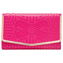 Buy Ted Baker Bree Bow Leather Clutch Bag Online at johnlewis.com