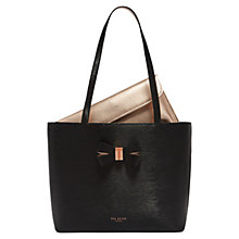 Buy Ted Baker Bowmisa Leather Small Shopper Bag Online at johnlewis.com