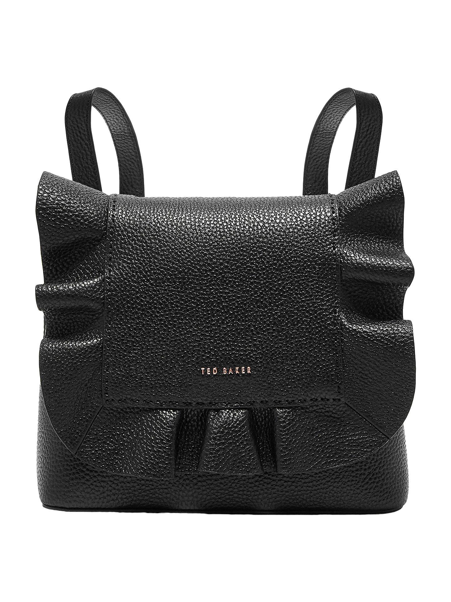 ca166cc9f Buy Ted Baker Rammira Leather Shoulder Bag, Black Online at johnlewis.com  ...