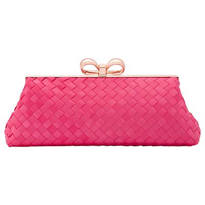 Ted Baker Alaina Woven Frame Clutch Bag, Pink