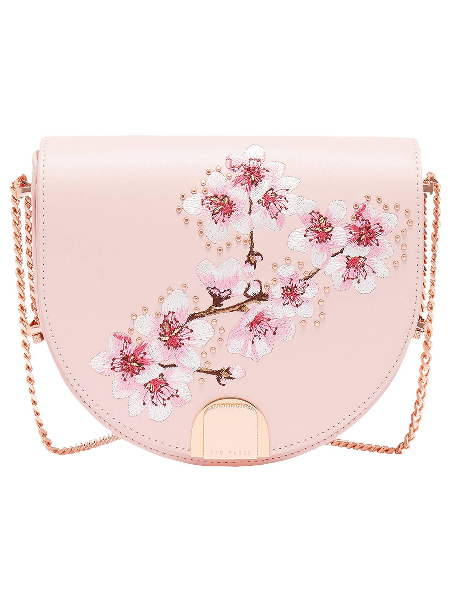 264b112419 Buy Ted Baker Susy Soft Blossom Leather Shoulder Bag, Light Pink Online at  johnlewis.