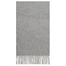 Buy Mulberry Pure Wool Scarf, Grey Melange Online at johnlewis.com