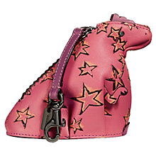 Buy Coach Leather Rexy Dinosaur Coin Case, Bright Pink Online at johnlewis.com
