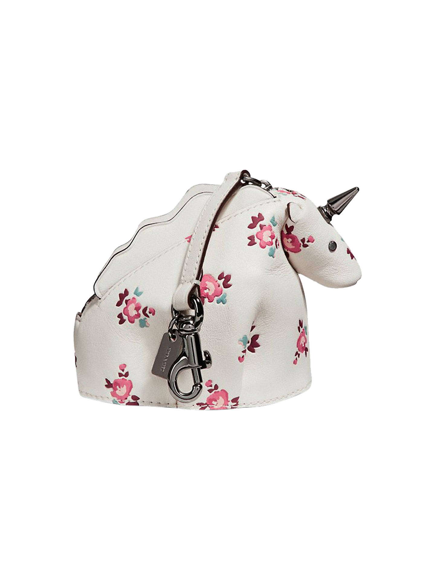 BuyCoach Floral Unicorn Leather Coin Case, Chalk Multi Online at  johnlewis.com 15d938fc30