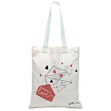Buy Radley Love Letters Cotton Canvas Shopper Bag, Multi Online at johnlewis.com